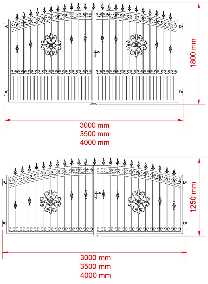 schmiedeeisern gartentor perwall schmiede gartentor made in eu. Black Bedroom Furniture Sets. Home Design Ideas