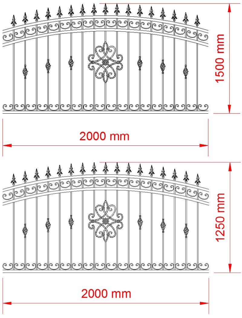 schmiedeeisern zaun schaumar schmiedeeisen z une vom hersteller. Black Bedroom Furniture Sets. Home Design Ideas